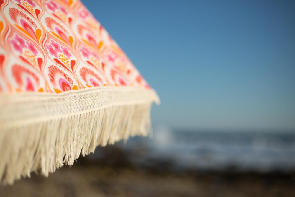 Thalia-Coral beach umbrella available at beachbrella.com