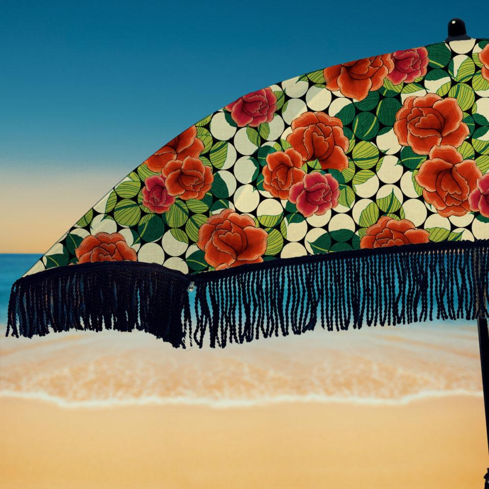 beach umbrella with fringe