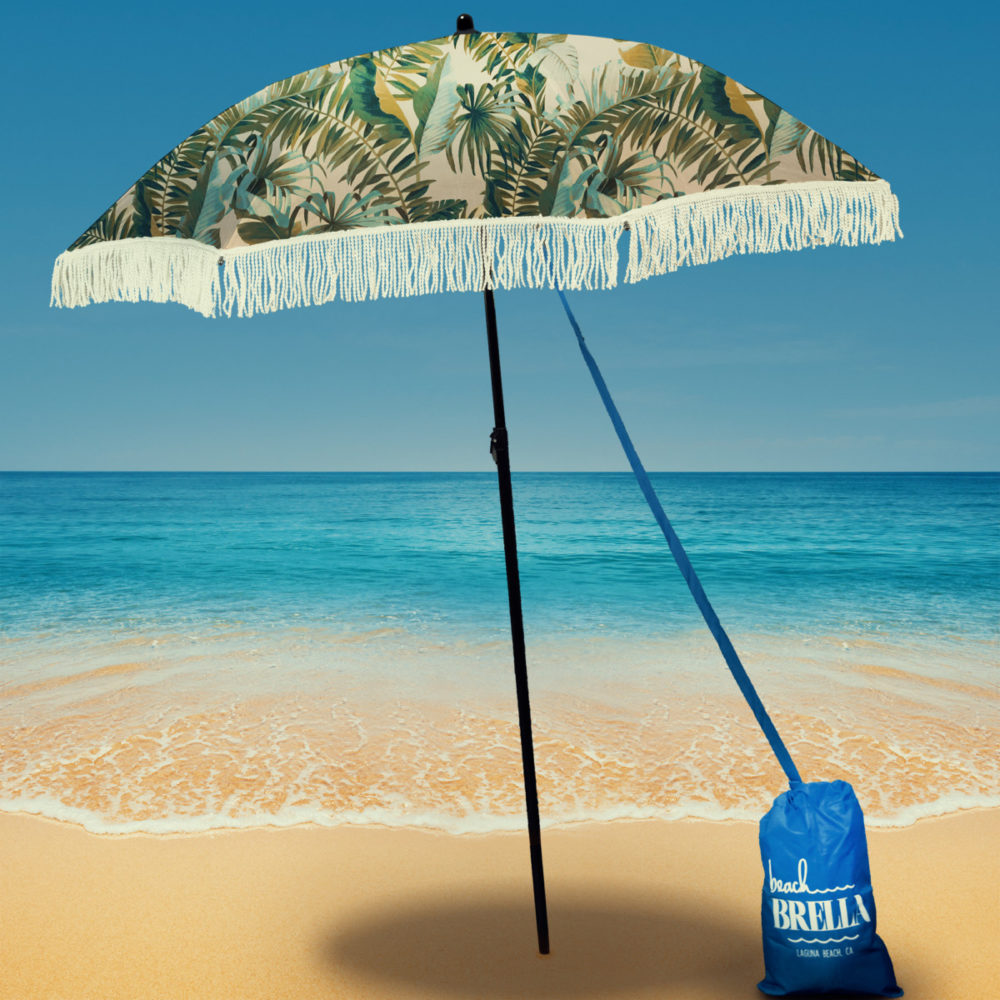 beach umbrella with sand anchor