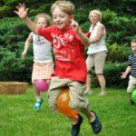 Backyard Relay Race for kids