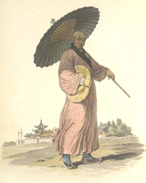 The History of Beach Umbrellas: Silk parasol from China